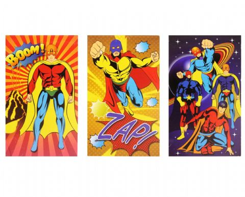 Super Heroes Notebook Notepad Jotter - Boys & Girls Party Bag Fillers